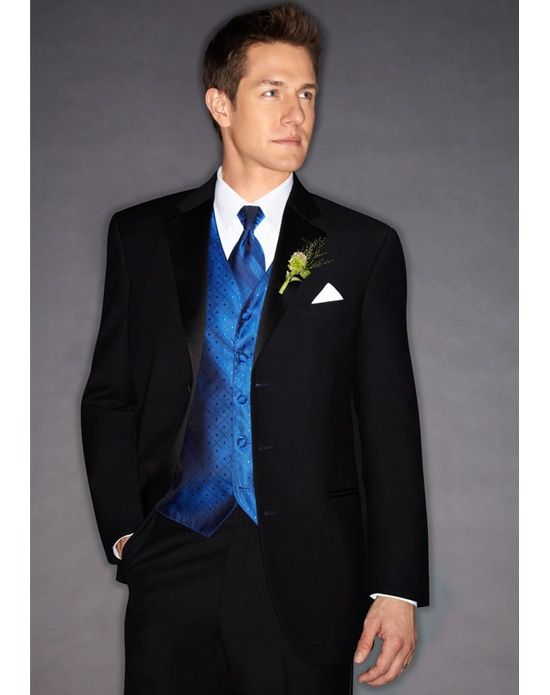 Love this tux by Ralph Lauren, only black vest and tie for groomsmen ...