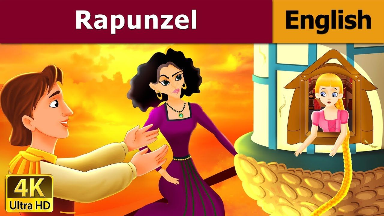 Rapunzel In English Fairy Tales Bedtime Stories 4k Uhd English F Rapunzel Story Book Rapunzel Rapunzel Story