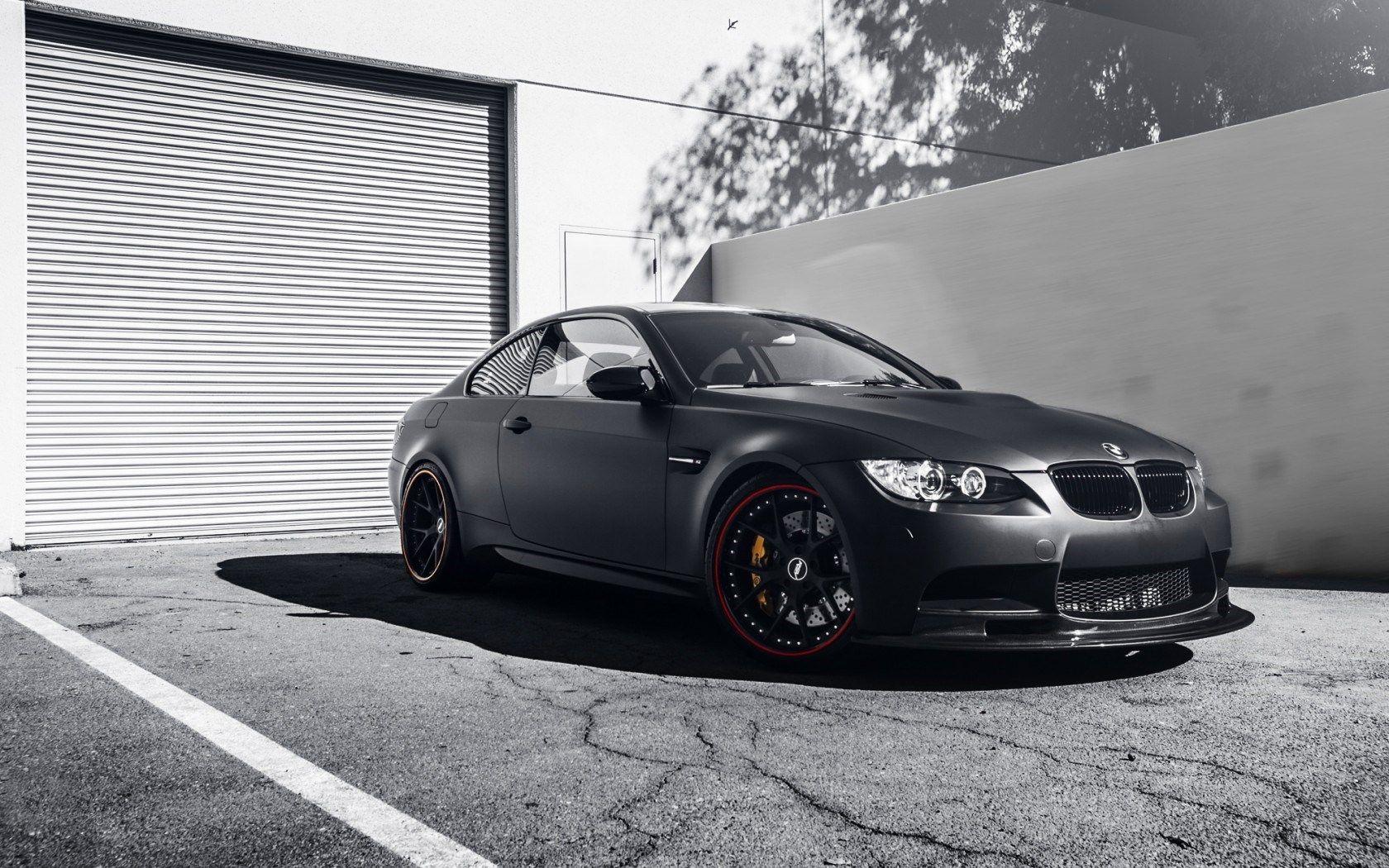 Car Bmw M3 Coupe Garage Matte Black Hd Wallpaper Zoomwalls Bmw M3 Wallpaper Bmw M3 Bmw