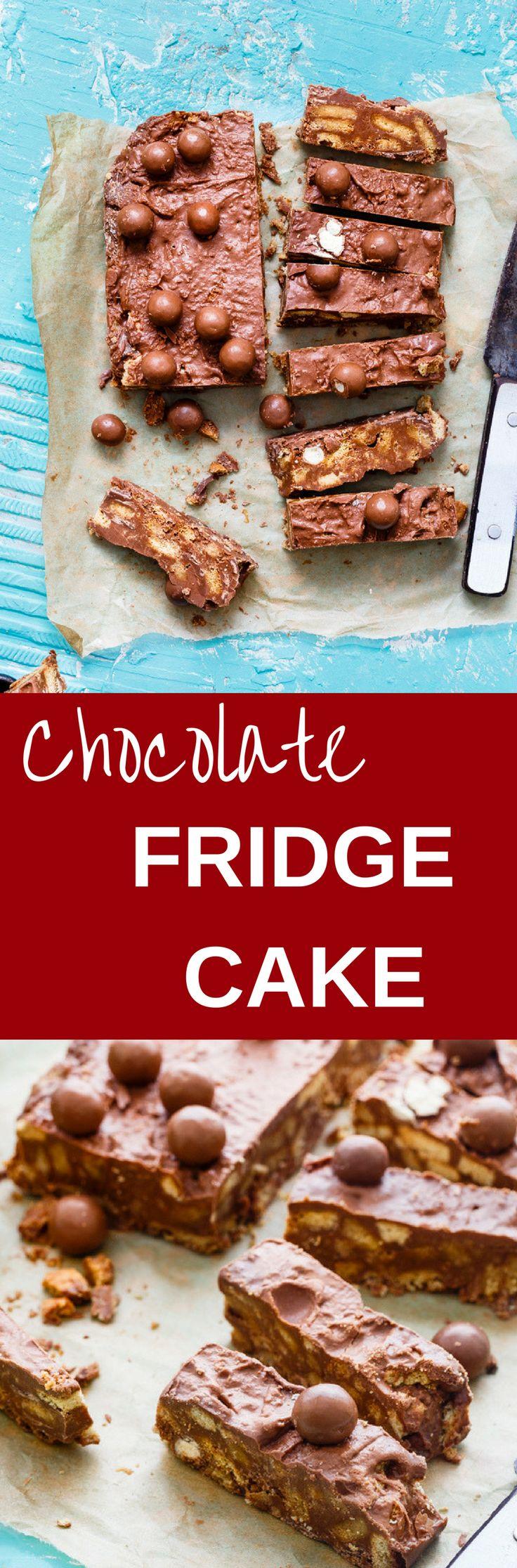 Chocolate fridge cake recipe chocolate fridge cake