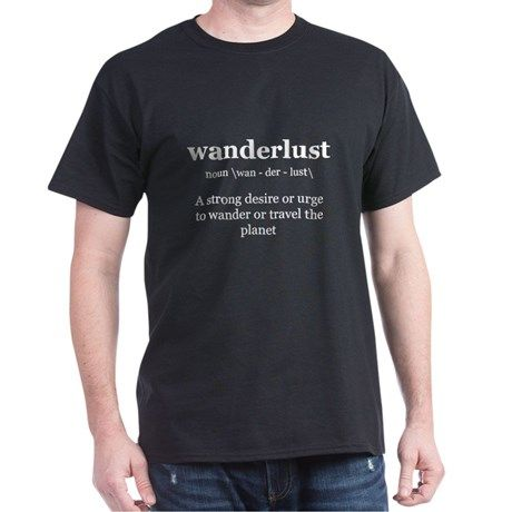 wanderlust definition Women's Dark T-Shirt | Wanderlust definition ...