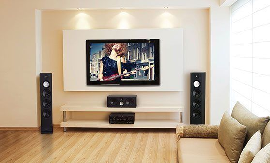 Image Result For Tv Wall With Tower Speakers Living Room Designs