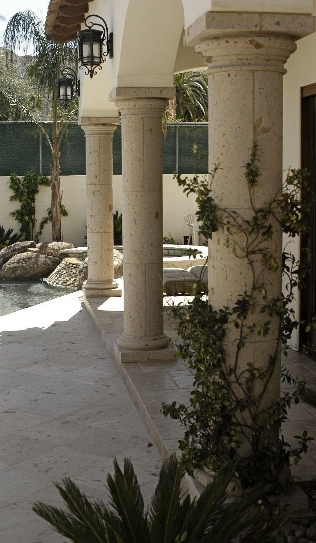 Columns Cantera Stone Limestone Architectural Designs Exterior House Doors Best Exterior House Paint White Farmhouse Exterior