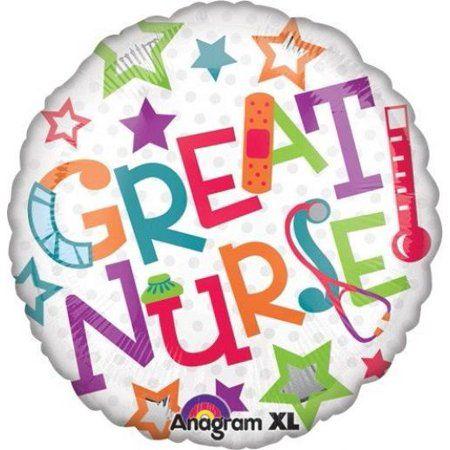 """XL 28/"""" Smiley Face Nurse Super Shape Mylar Foil Balloon Party Decoration"""