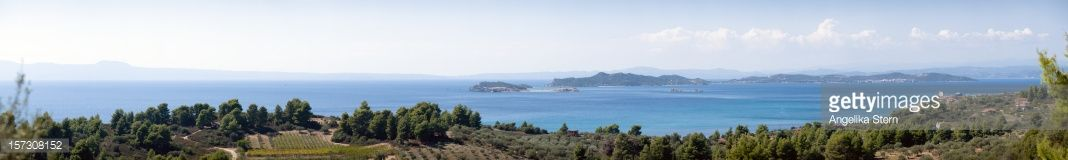 View from a hill over the bay of Ouranoupoli (Halkidiki,…... #amoliani: View from a hill over the bay of Ouranoupoli… #amoliani
