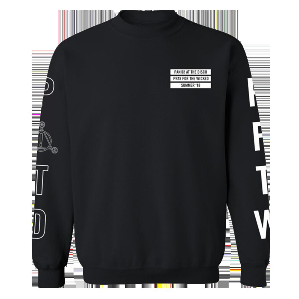 Panic At The Disco Black Outline Tour Crewneck Sweatshirts Sweatshirt Shirt Long Sleeve Sweatshirts [ 1000 x 1000 Pixel ]