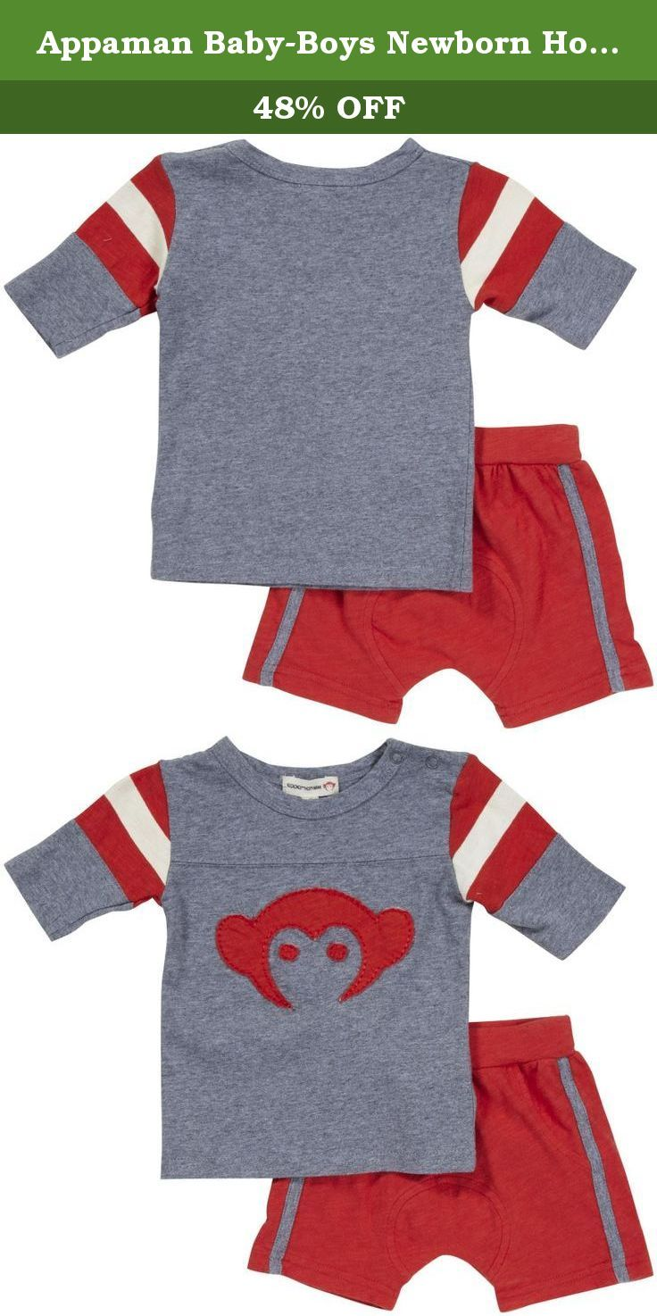 Appaman Baby-Boys Newborn Hockey Jersey and Track Short Set c0d49b95a1a