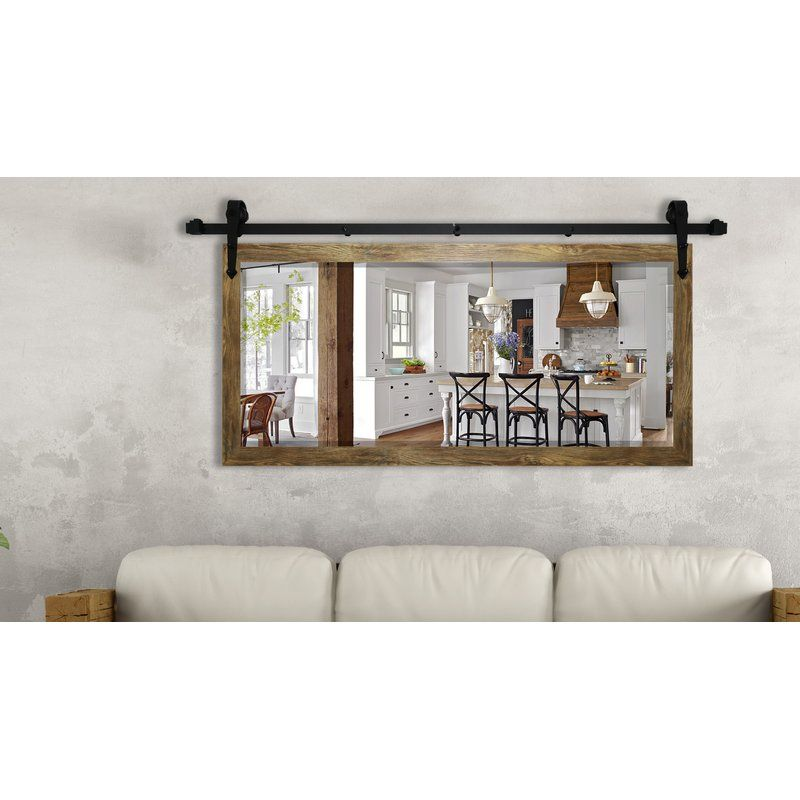 Nicholle Barnwood Wall Mirror Birch Lane Farm House Living Room Living Room Mirrors Wall Decor Living Room