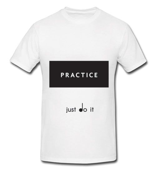 b3de4420 Look in the mirror and remind yourself to PRACTICE! TwoSet Violin's  favourite motivational T-Shirt. #TwoSetViolin on Instagram with a photo of  you wearing ...