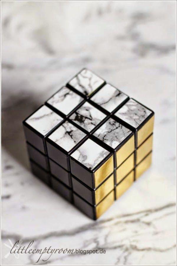 Modern Rubiku0027s Cube DIY #marble