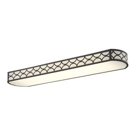 Allen + Roth Capistrano White Acrylic Ceiling Fluorescent Light ...