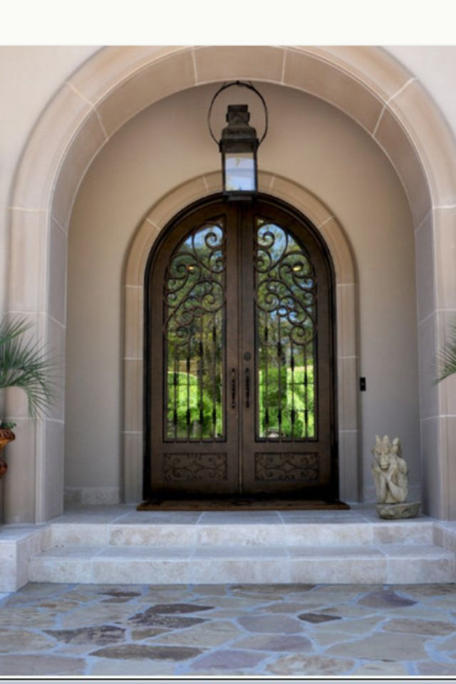 Found on houzz.com! Love the double door entry and arch! | For the ...