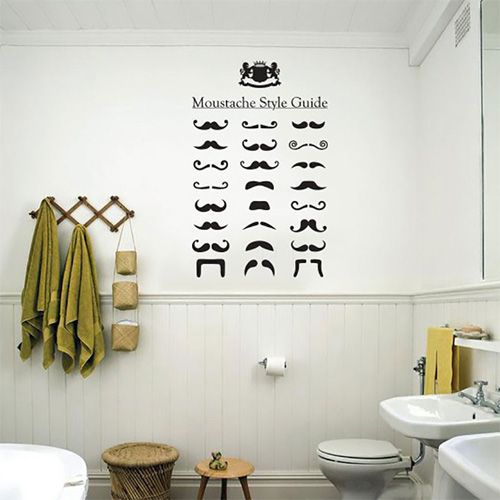 There are a myriad of different moustache styles for the modern man so why not inspire them with this retro moustache wall sticker pack.