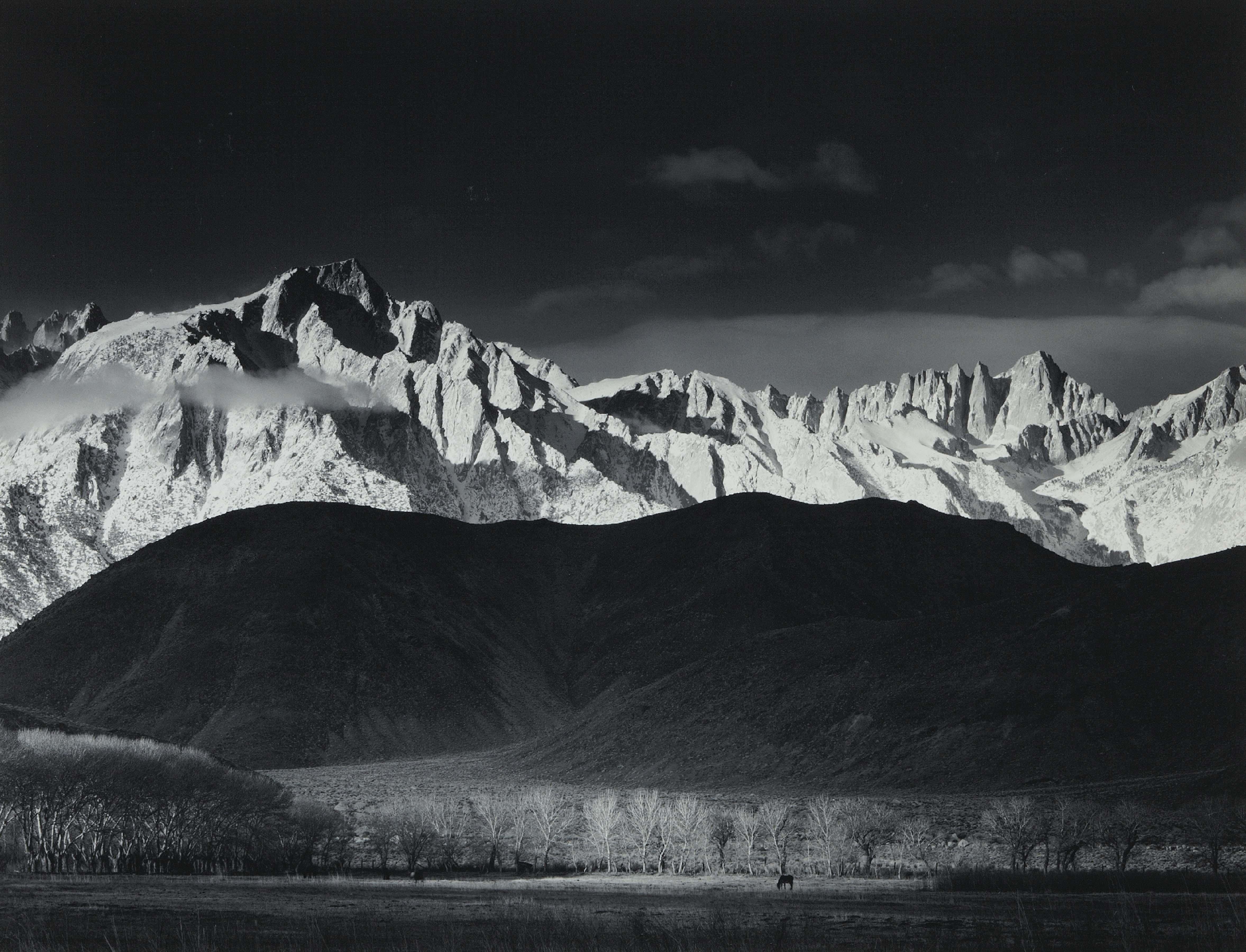 Ansel Adams Winter Sunrise Sierra Nevada from Long Pine