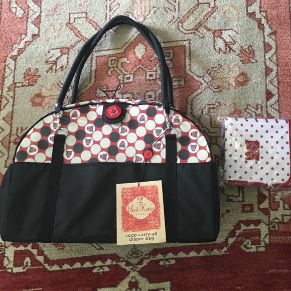 2 Red Hens Coop Carry All Diaper Bag NWT Awesome Fun Diaper Bag