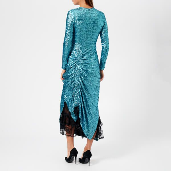 67a9dc3c611 Preen By Thornton Bregazzi Women s Sequin Jersey Lace Dinah Dress - Teal