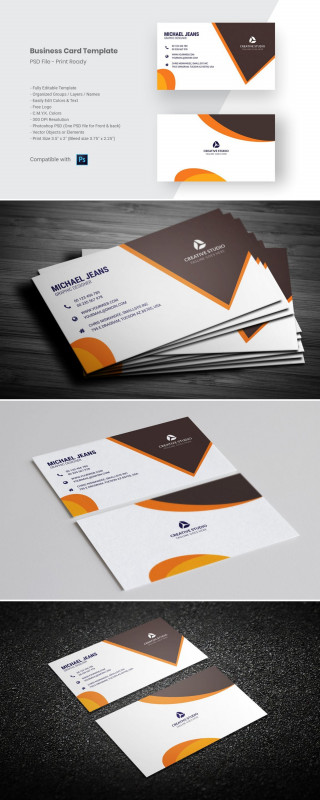Photoshop Business Card Template With Bleed Awesome Modern Business Card Tem Modern Business Cards Business Card Template Design Personal Business Cards Design