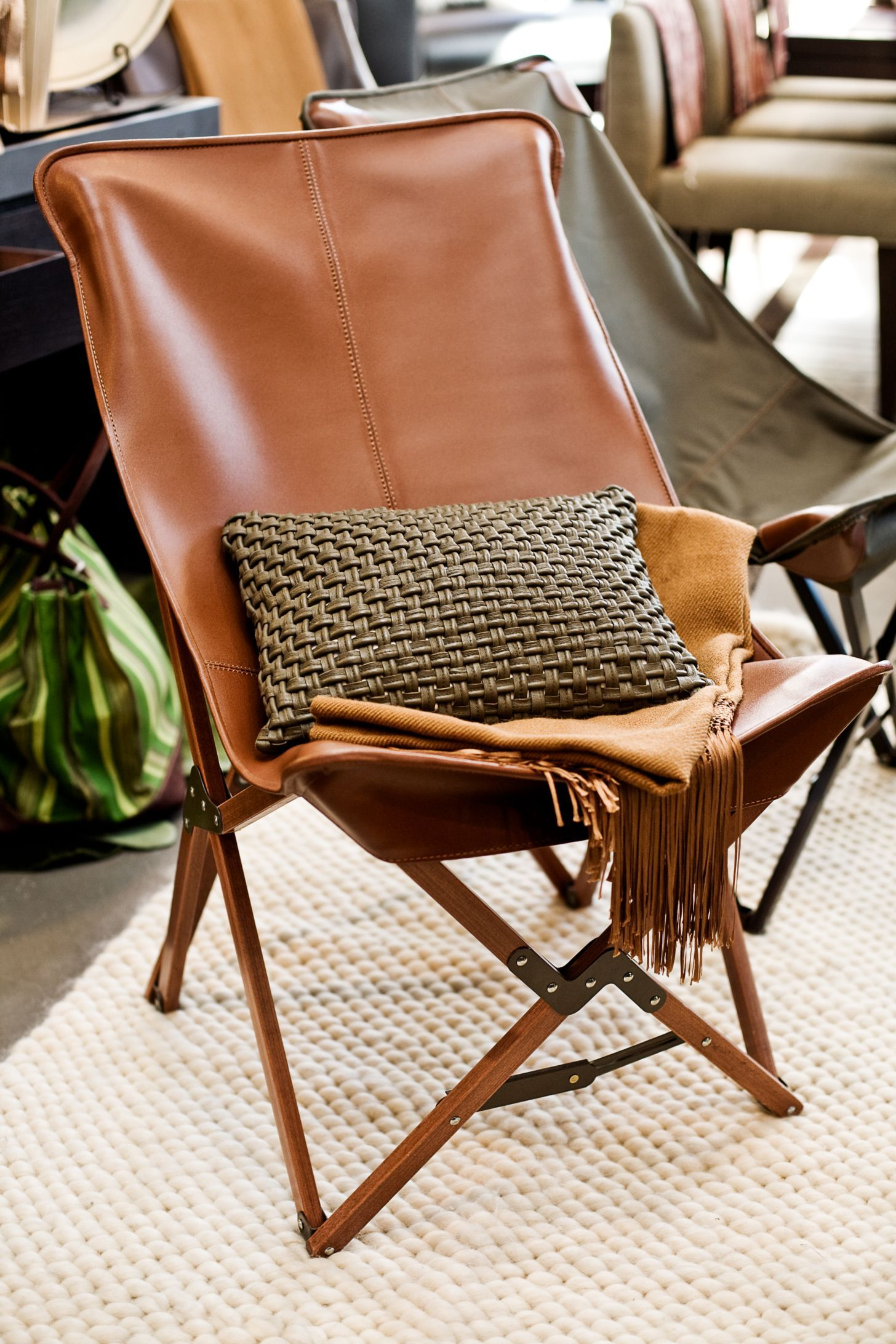 Collapsible U0027Tripolinau0027 Chair, Inspiration For The Famous BKF U0027butterflyu0027  ...