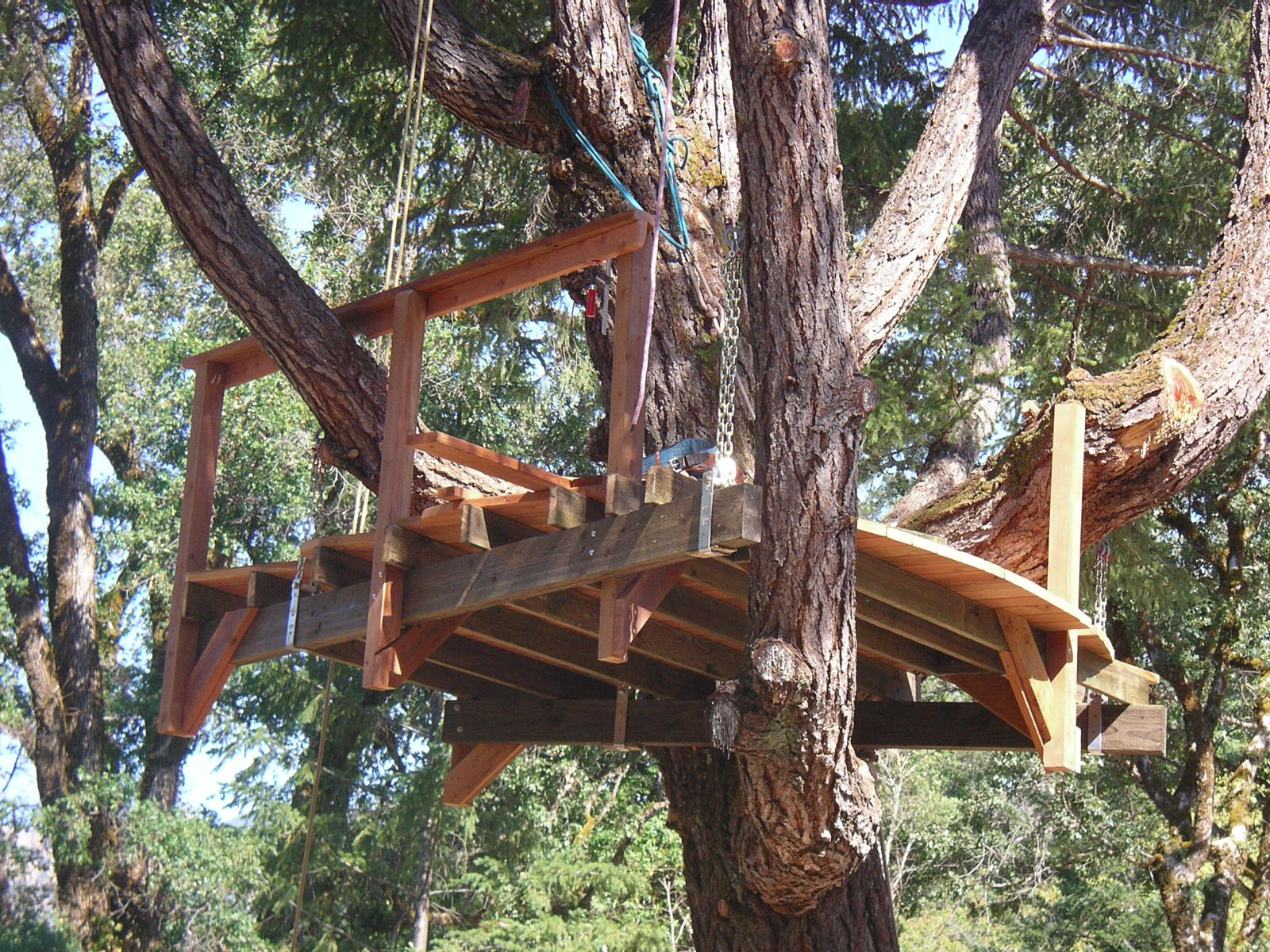 Priority Tree Suspended Tree House, (Deck)