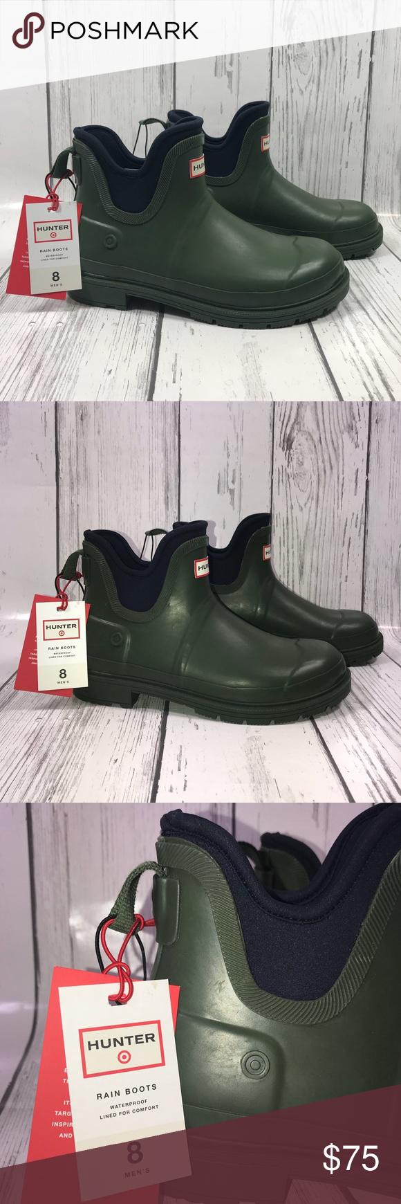 d078216436d Hunter for Target Men's Ankle Rain Boots Size 8 Hunter for Target ...