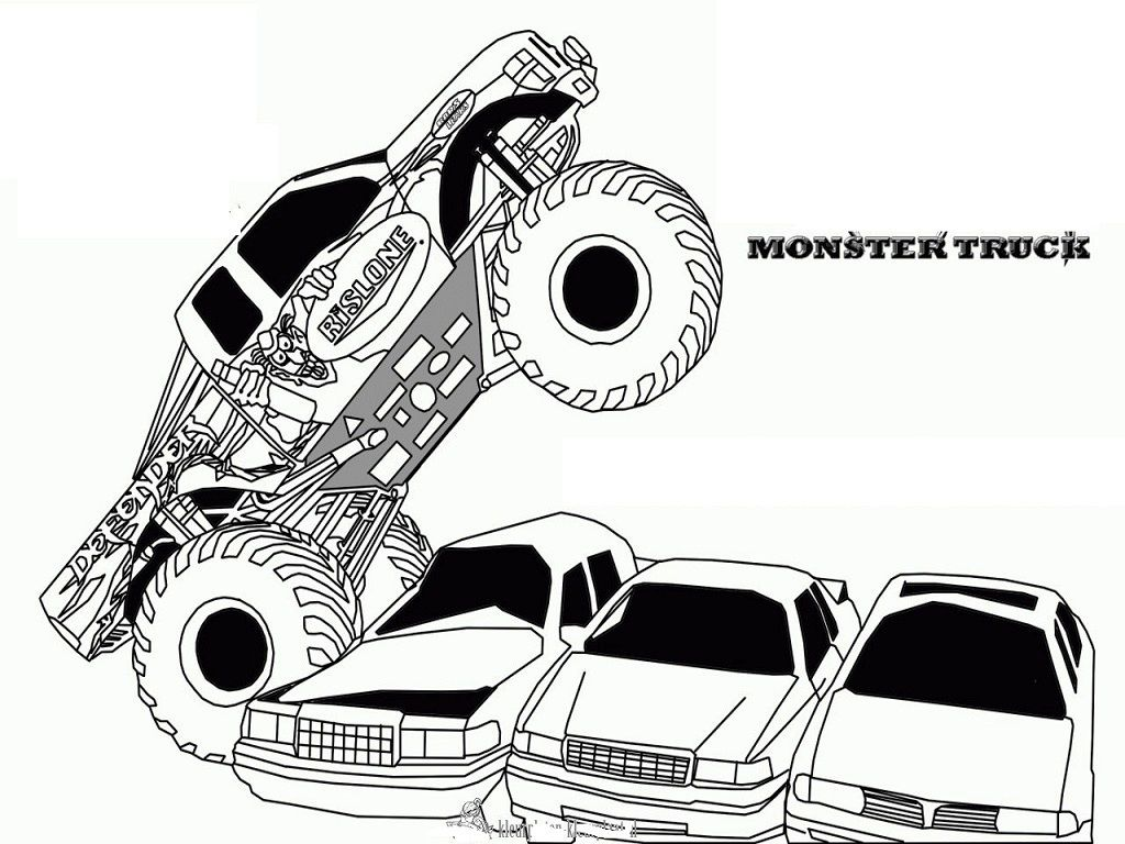 Monster Truck Coloring Pages Free Printables | Monster Truck Rally ...
