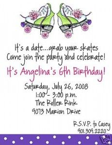 wordingroller-skating-birthday-party-invitations | decorate, Party invitations