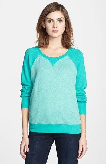 Caslon® Long Sleeve French Terry Sweatshirt available at #Nordstrom