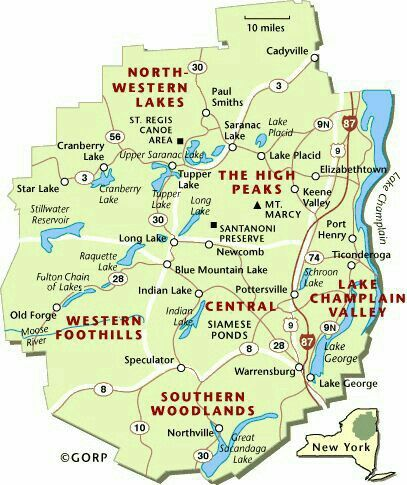 Adirondack State Park Map | America | Pinterest | Park, Vacation and ...