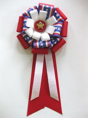 Crafts Tutorial Patriotic Ribbon Badge Crafts Ideas Crafts