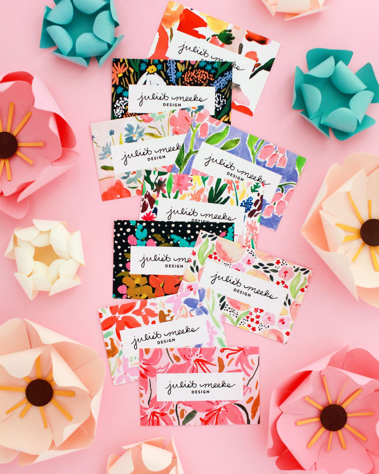 colorful and creative business cards with moo cotton business