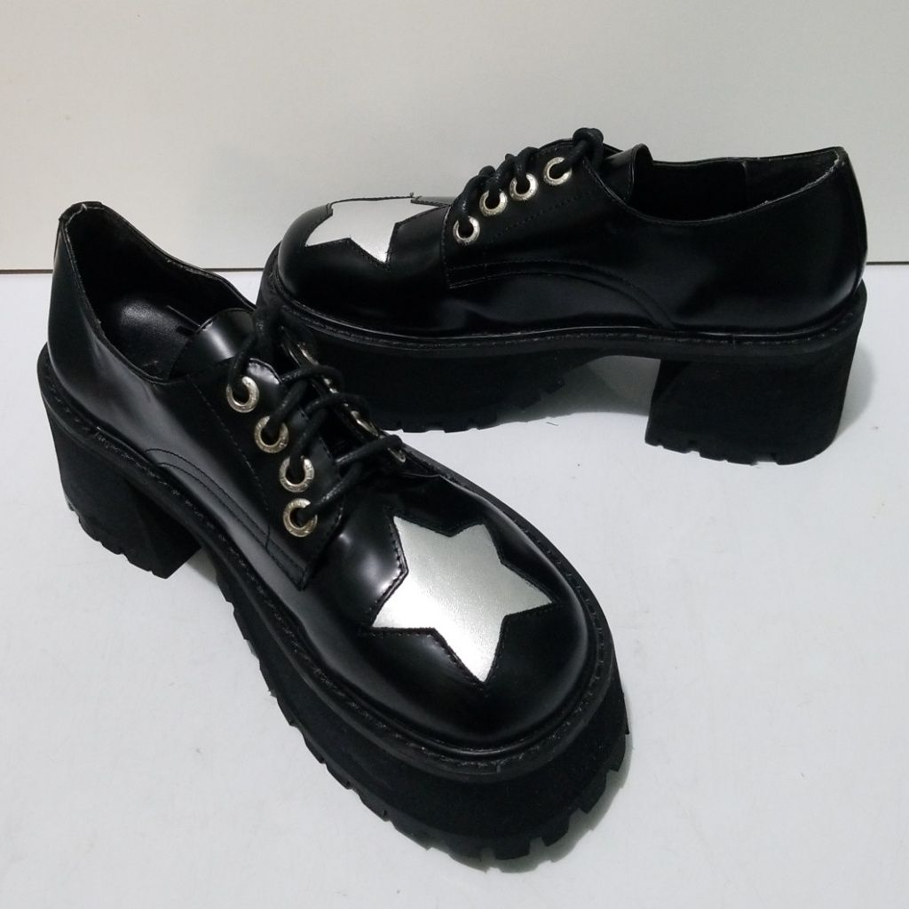UNIF Shoes   Unif Platform Punk Rock Star Black Shoes Size ...