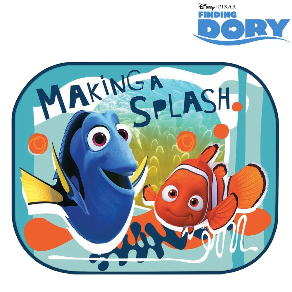 2 x disney finding dory kids baby children car window sun shades blinds visor in baby