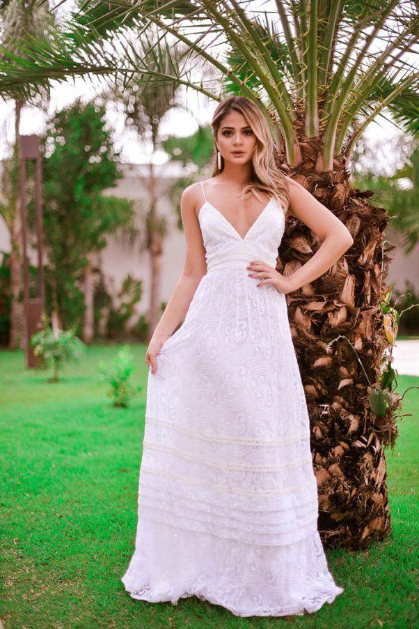Vestido Casamento Praia Vestidos Femeninos Longo com o