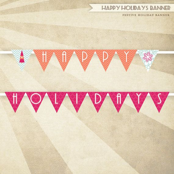 photograph about Happy Holidays Banner Printable identify PRINTABLE Joyful Vacations Banner Be Merry Holiday vacation Occasion as a result of