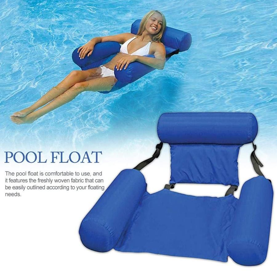 Swimming Floating Bed And Lounge Chair Adjustable Collapsable Chair Betternicetop In 2020 Swimming Pool Floats Pool Float Inflatable Pool Floats