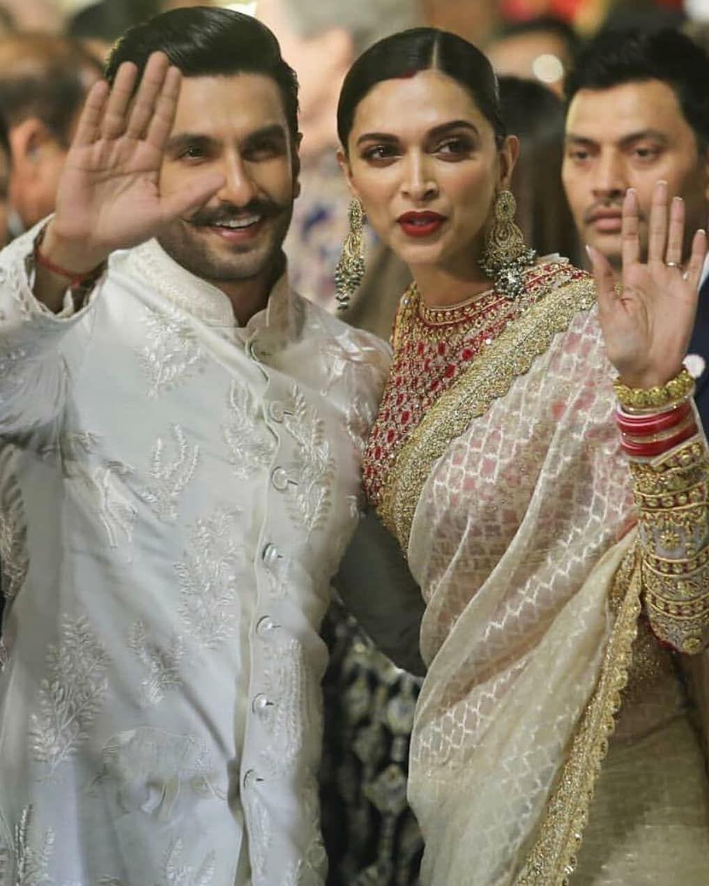 Dec 12 2018 Weddingz In Deepikapadukone And Ranveersingh Be Giving Some Major Couple Goals Deepika Padukone Saree Deepika Padukone Style Bollywood Wedding