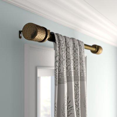 Mistana Peterson Adjustable Drapery Tringle Simple Curtain Rod