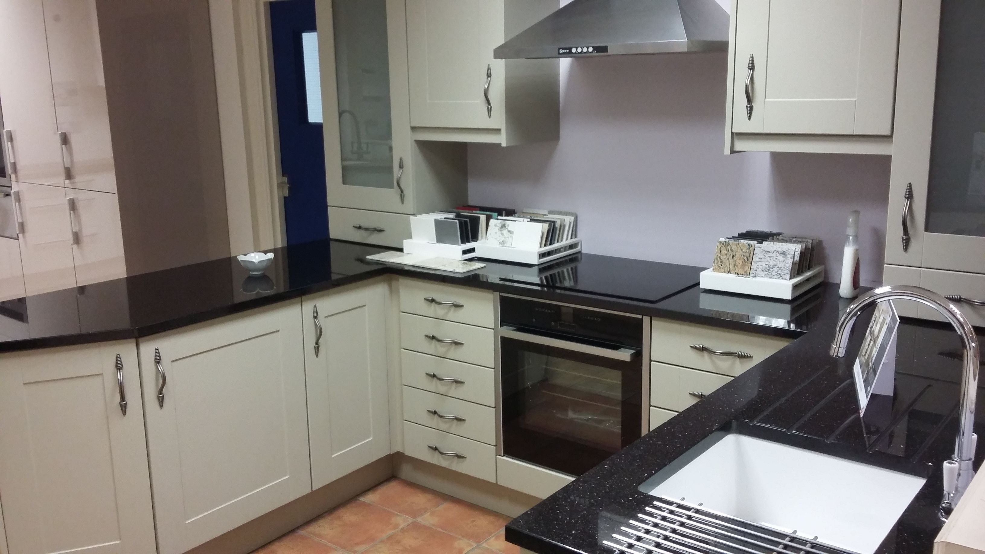 Granite Worktops For Kitchens Studio Cambridge Dakar Kitchen With Granite Worktops On Display In