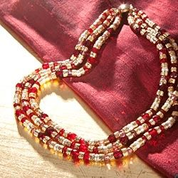 Red Murano Multi-Strand Necklace in Holiday 2012 from Uno Alla Volta on shop.CatalogSpree.com, my personal digital mall.