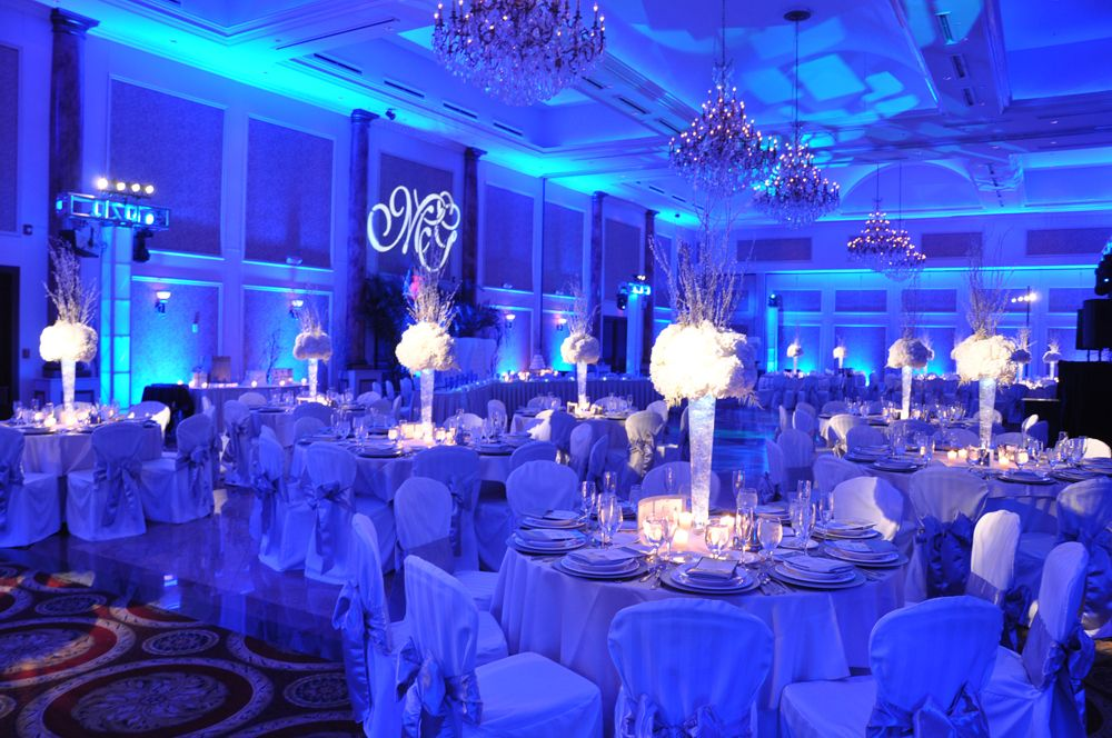 Nice blue uplighting  Wedding Uplighting Ideas  Pinterest