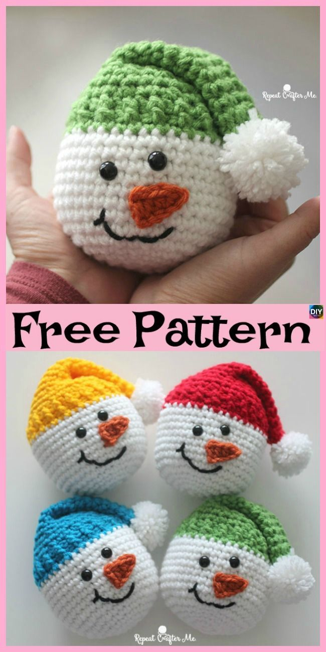 Photo of #freecrochetpatterns #snowman #christmasidea #Crochet #Cute