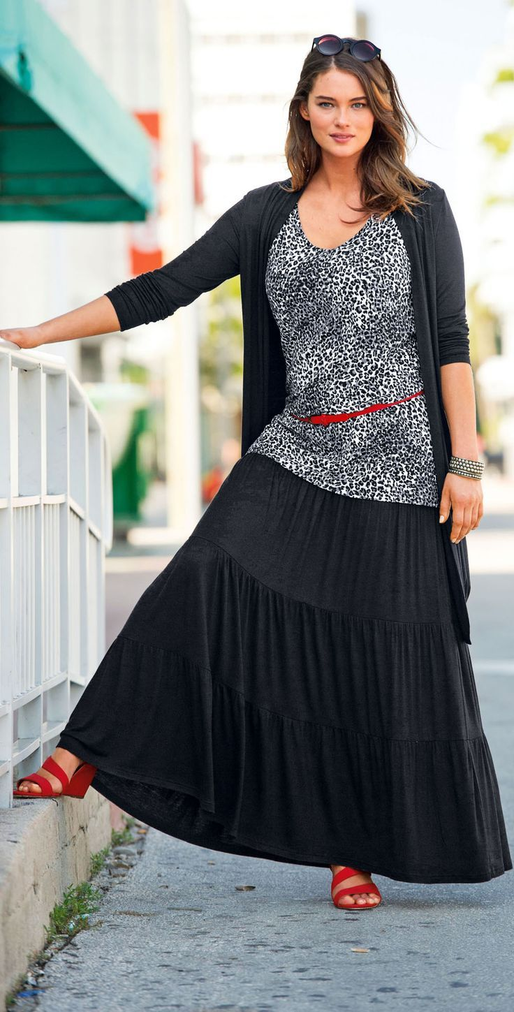 Casual fashion for over 60 - Unfortunately They Don T Have This Cute Casual Plus Size Top And Skirt Online Anymore