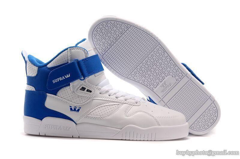 huge selection of 753ae 55ee3 ... Mens Supra Bleeker High Skateboard Shoes WhiteBlue ...