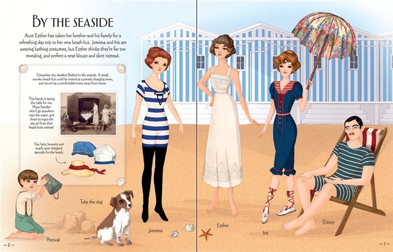 """Edwardian and 1920s fashion"" at Usborne Children's Books"