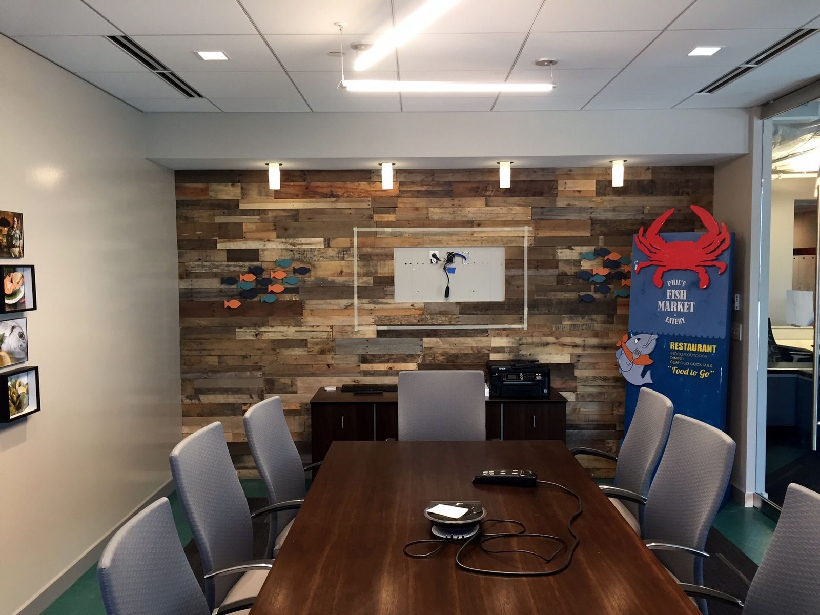 Great accent wall at phils fish market corporate office featured great accent wall at phils fish market corporate office featured here is our all natural sciox Choice Image