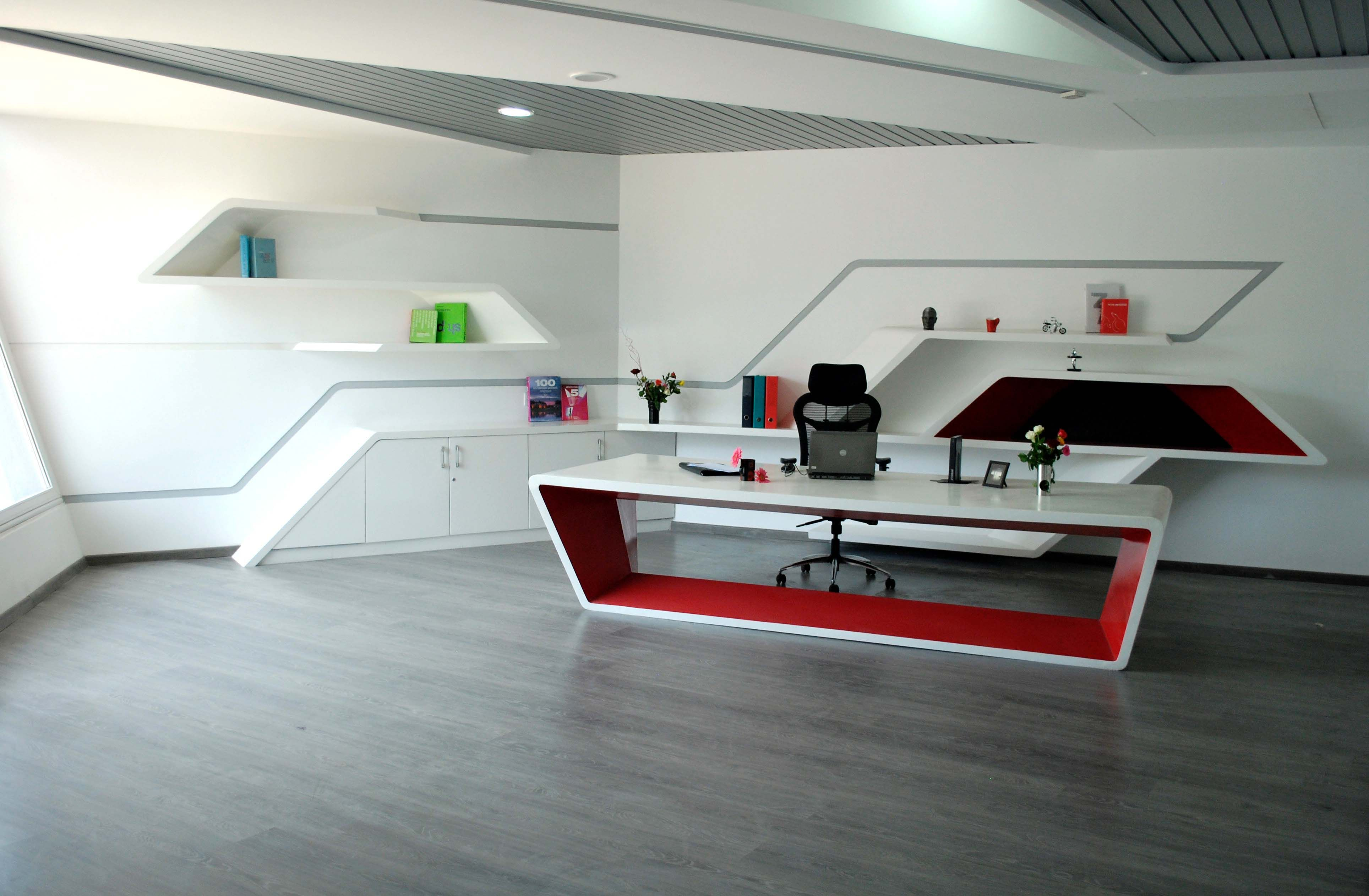 Office Reception Desk, Design By InFORM Architects, Architect In Bangalore,  Karnataka, India