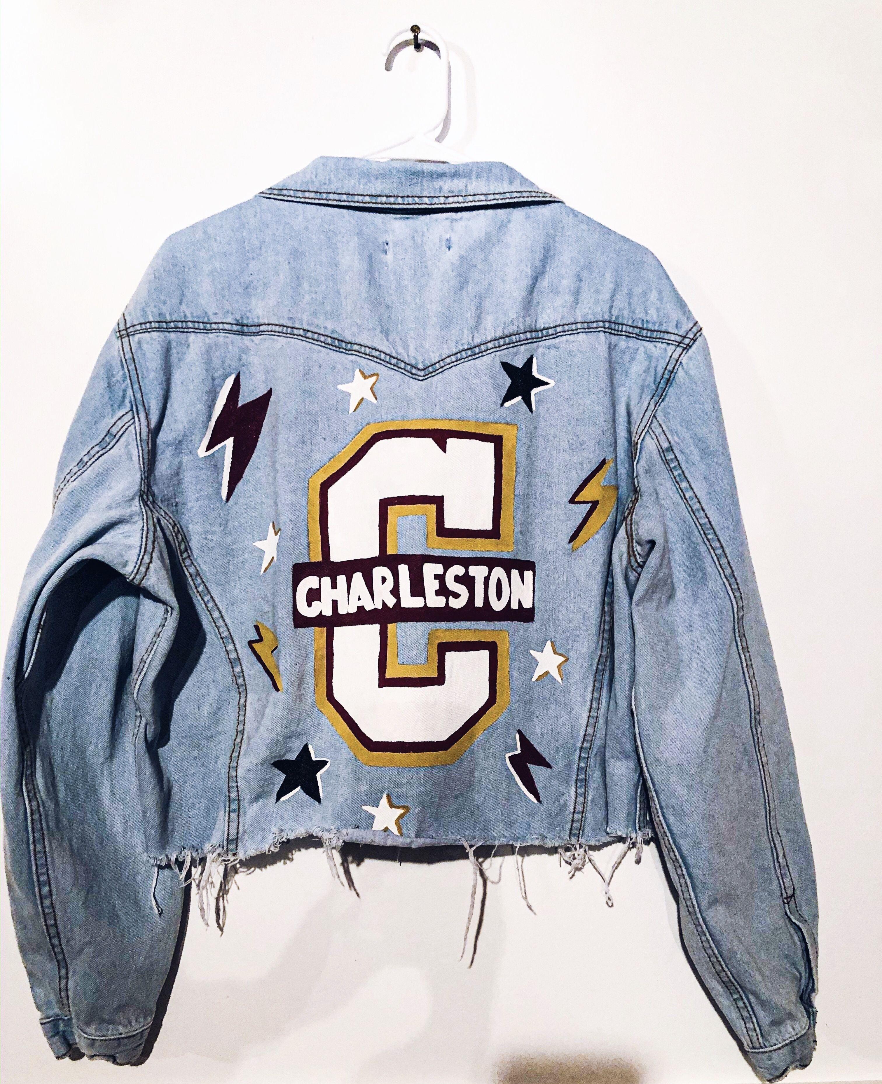 Custom College of Charleston denim jacket