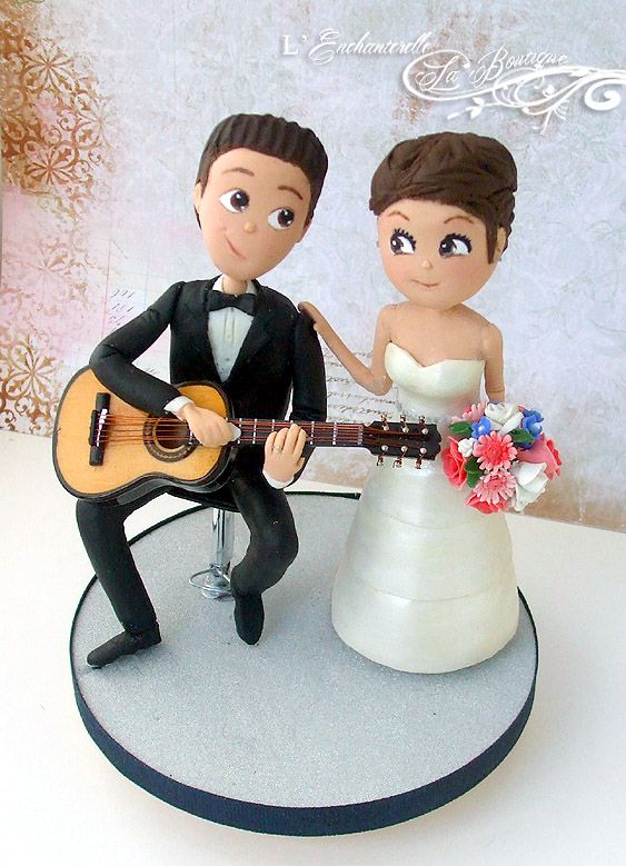 wedding cake topper man with guitar classic guitar player wedding cake topper by l 26352