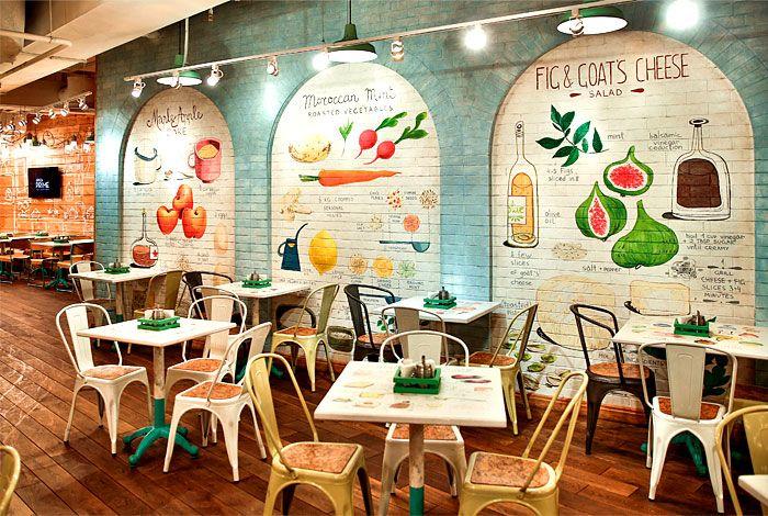 Restaurant so luxuriantly adorned with graffiti for Ristorante murales milano