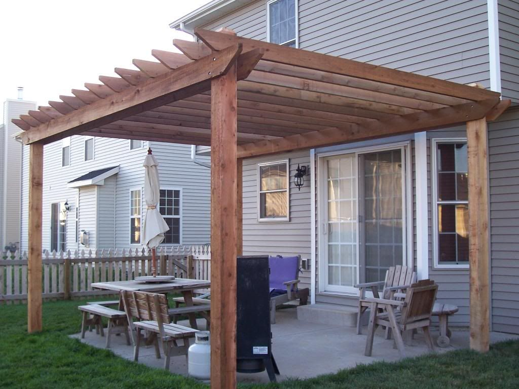 Plan Pergola Bois Couverte i sooo want a nice, simple pergola over the upper landing of